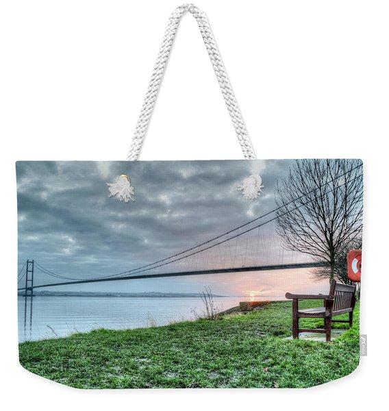 Sunset At The Humber Bridge Weekender Tote Bag