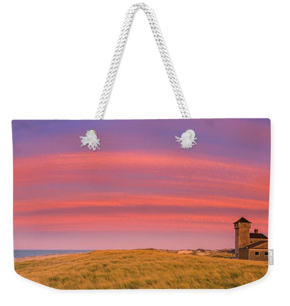 Sunset At The Old Harbor Us Life Saving Station At Race Point, P Weekender Tote Bag