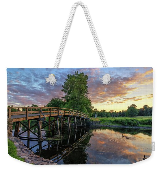 Sunset At The Old North Bridge Weekender Tote Bag