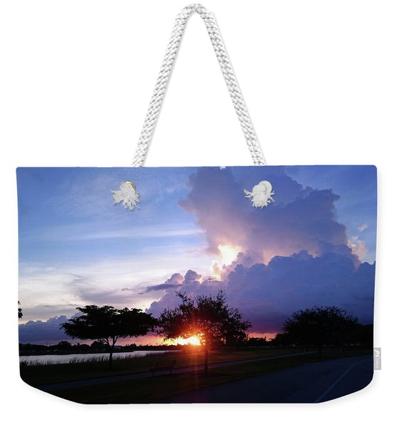 Sunset At The Park In Miami Florida Weekender Tote Bag
