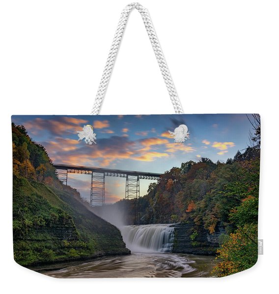 Sunset At The Upper Falls Weekender Tote Bag