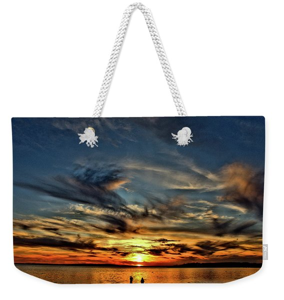 Sunset At The Waters Edge Weekender Tote Bag