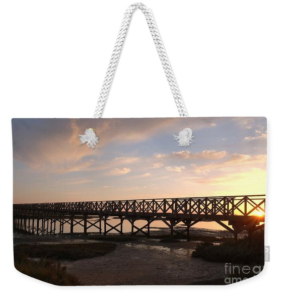 Sunset At The Wooden Bridge Weekender Tote Bag
