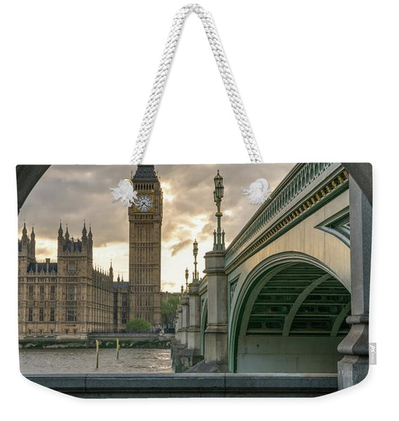 Sunset At Westminster Weekender Tote Bag