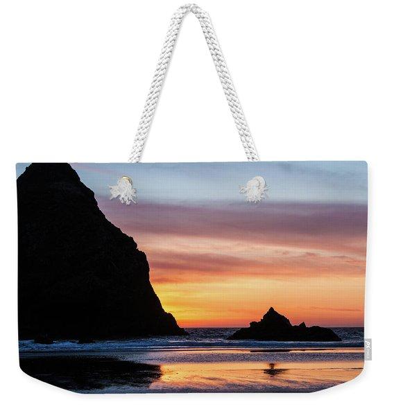 Sunset At Whalehead Beach Weekender Tote Bag