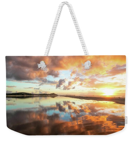 Sunset Beach Reflections Weekender Tote Bag