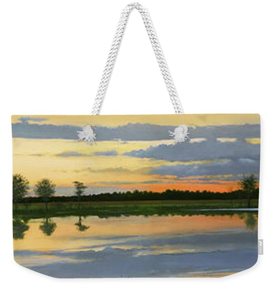 Sunset Ben Jack Pond Weekender Tote Bag