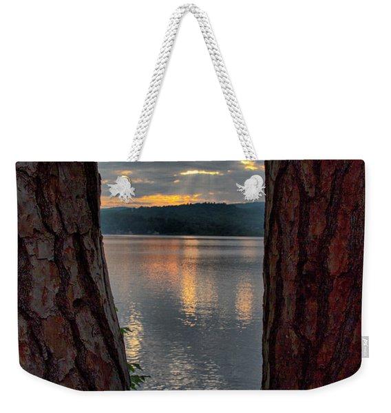 Sunset Between Trees  Weekender Tote Bag