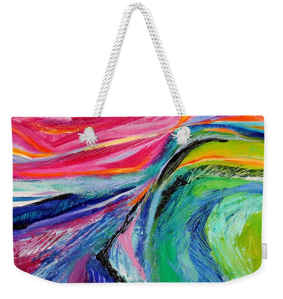 Sunset Beyond The Hill Weekender Tote Bag