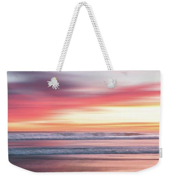 Sunset Blur - Pink Weekender Tote Bag