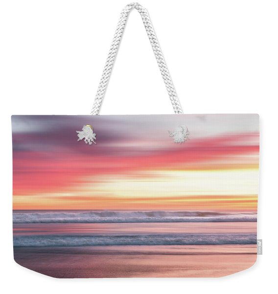 Weekender Tote Bag featuring the photograph Sunset Blur - Pink by Patti Deters