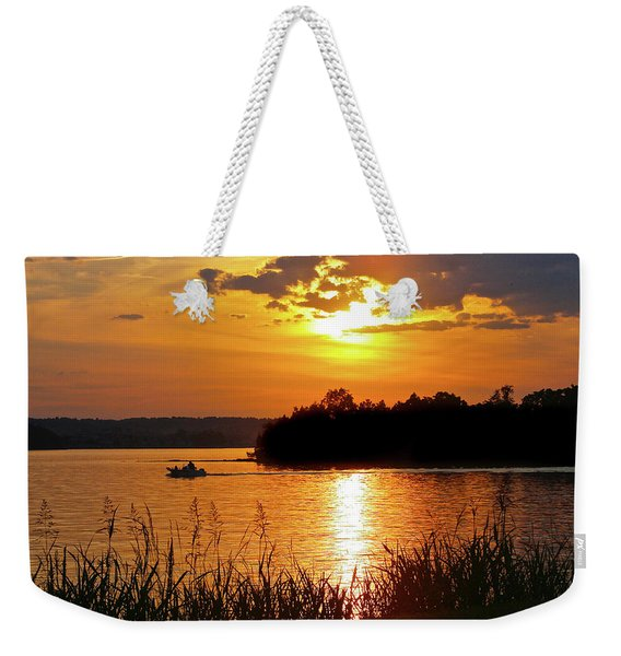 Sunset Boater, Smith Mountain Lake Weekender Tote Bag