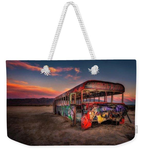 Sunset Bus Tour Weekender Tote Bag