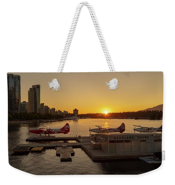 Sunset By The Seaplanes Weekender Tote Bag