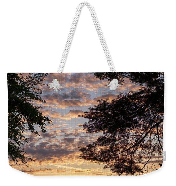 Sunset Caressed By Tree Branch Weekender Tote Bag