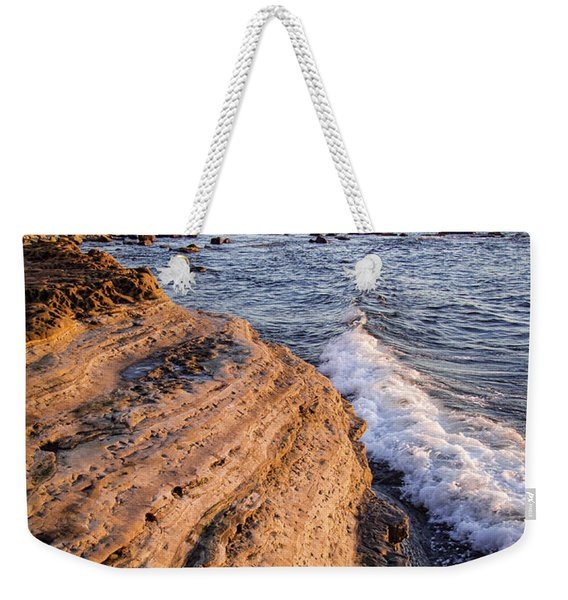 Weekender Tote Bag featuring the photograph Sunset Cliffs, San Diego, California  -74706 by John Bald
