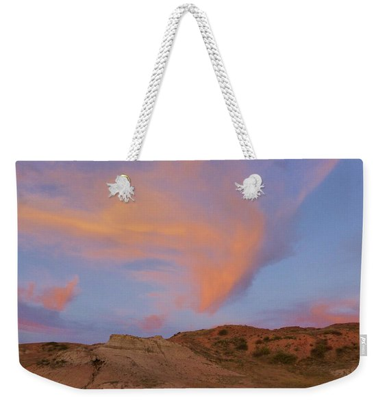 Weekender Tote Bag featuring the photograph Sunset Clouds, Badlands by Cris Fulton