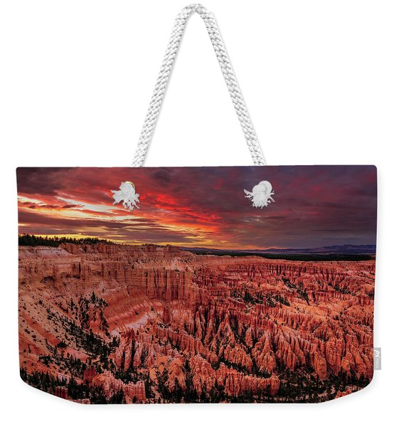 Sunset Clouds Over Bryce Canyon Weekender Tote Bag
