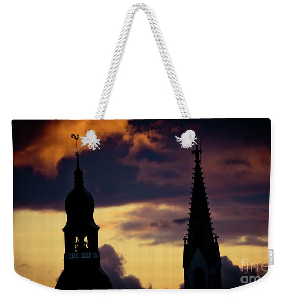 Sunset Cloudscape Old Town Riga Latvia Weekender Tote Bag