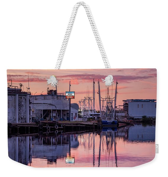 Sunset Colors And Reflections In The Bayou Weekender Tote Bag