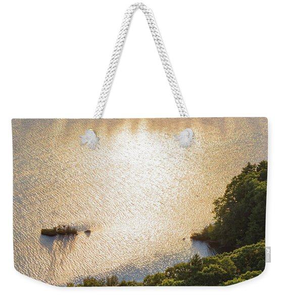 Weekender Tote Bag featuring the photograph Sunset Couple, Camden, Maine  -43980 by John Bald
