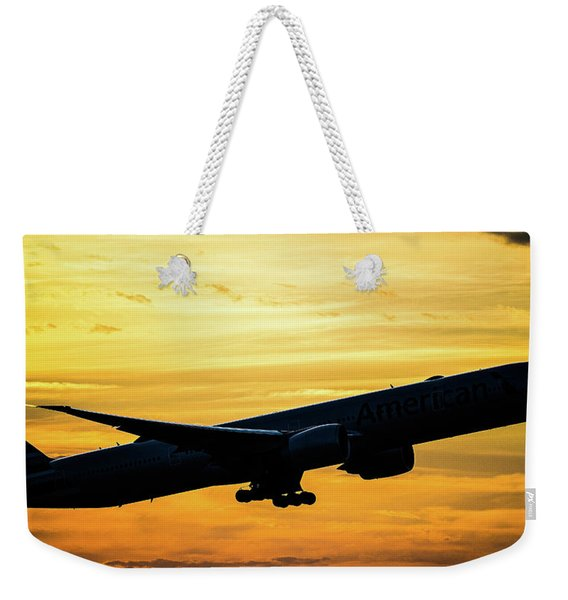 Sunset Departure From Dfw Weekender Tote Bag