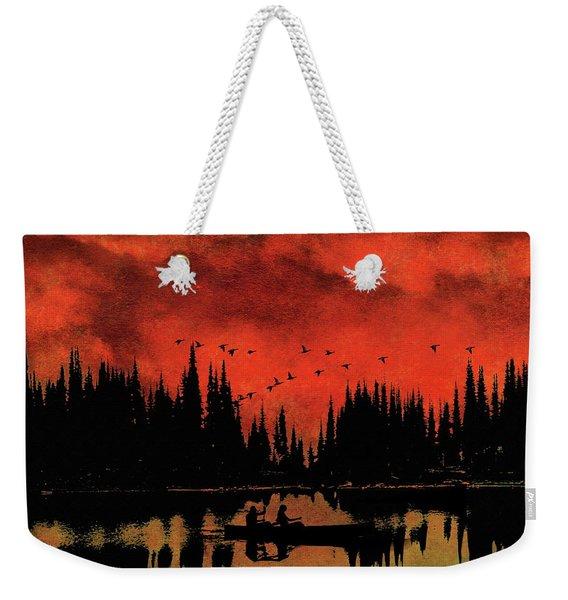 Sunset Flight Of The Ducks Weekender Tote Bag