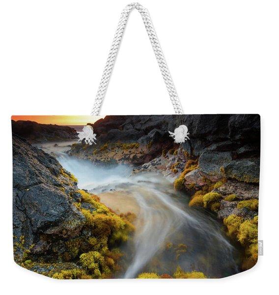 Sunset Flow Weekender Tote Bag