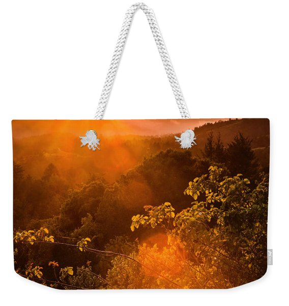Sunset Fog Over The Pacific #2 Weekender Tote Bag