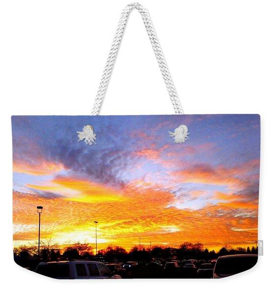 Sunset Forecast Weekender Tote Bag