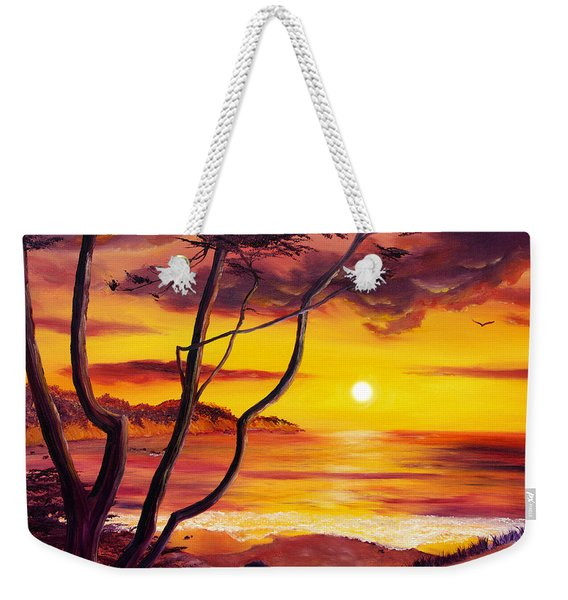 Sunset From A Carmel Cypress Tree  Weekender Tote Bag