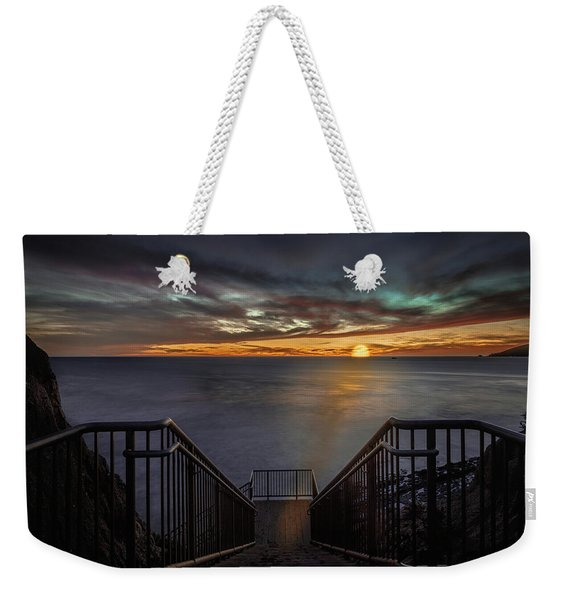 Sunset From Sandpiper Staircase Weekender Tote Bag