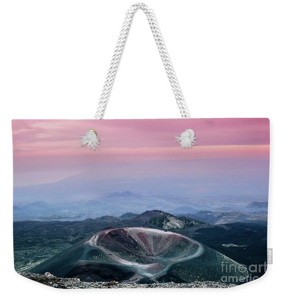 Sunset From The Top Of The Etna Weekender Tote Bag