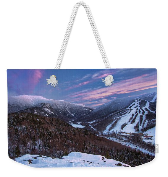 Sunset Glow Over Cannon Mountain Weekender Tote Bag