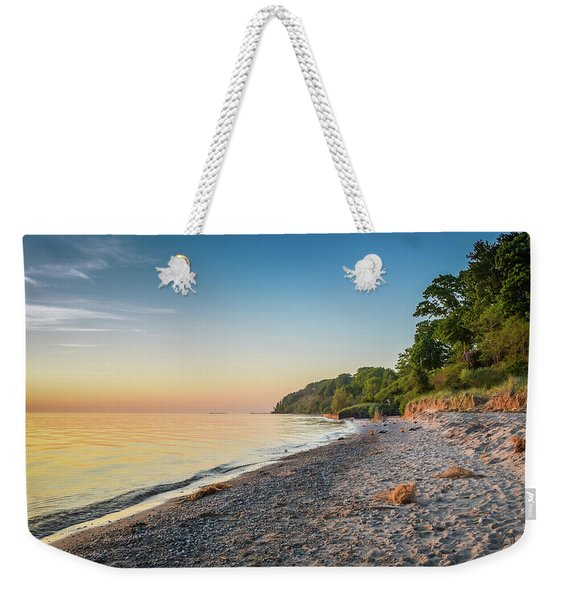 Sunset Glow Over Lake Weekender Tote Bag