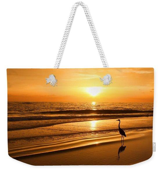 Sunset Gold Weekender Tote Bag