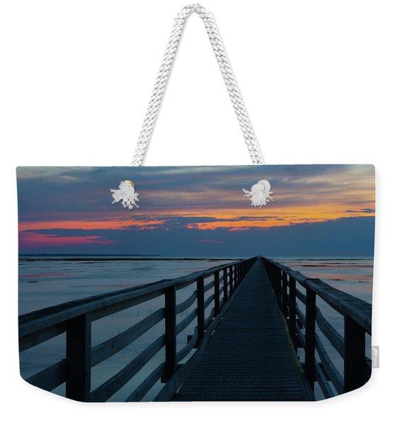 Sunset Grays Beach Cape Cod Weekender Tote Bag