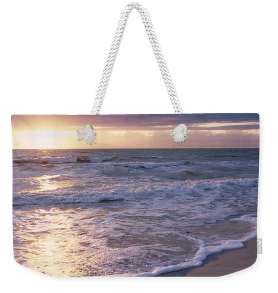Sunset, Gulf Of Mexico, Florida, Usa Weekender Tote Bag
