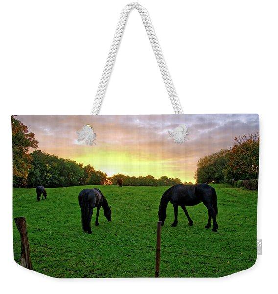 Sunset Horses Weekender Tote Bag