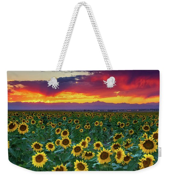 Weekender Tote Bag featuring the photograph Sunset Hour by John De Bord