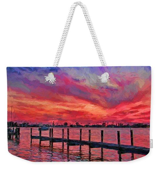 Sunset Impressionism Weekender Tote Bag