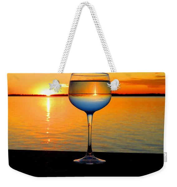 Sunset In A Glass Weekender Tote Bag