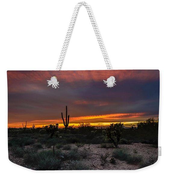 Sunset In Arizona Weekender Tote Bag