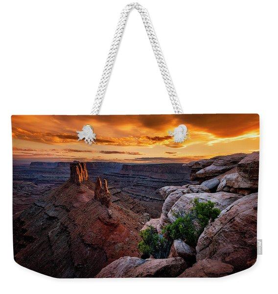 Sunset In Canyonlands Weekender Tote Bag
