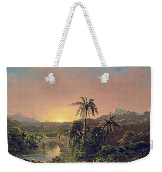 Sunset In Equador Weekender Tote Bag