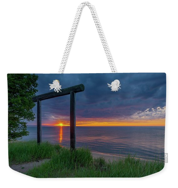 Sunset In Marquette Weekender Tote Bag