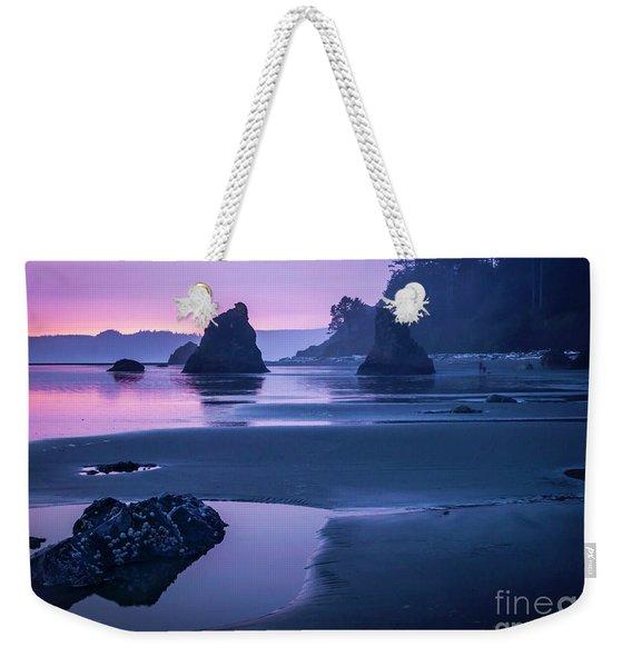 Sunset In Ruby Beach Weekender Tote Bag