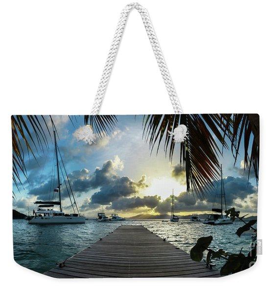 Sunset In The Bvi Weekender Tote Bag