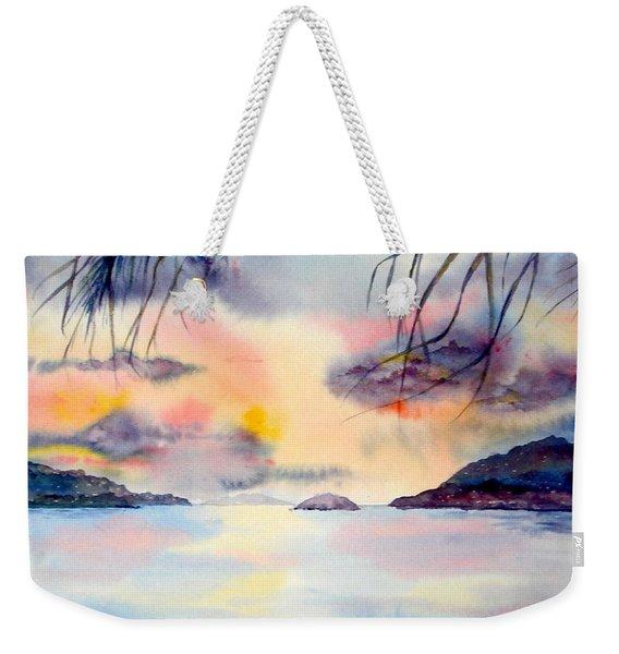 Sunset In The Caribbean Weekender Tote Bag