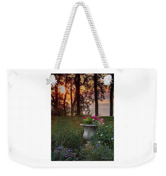 Sunset In The Flowers Weekender Tote Bag